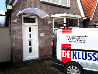 Montage luifel in Beverwijk