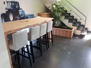 Hoge tafel / bartafel Douglas Steigerhout