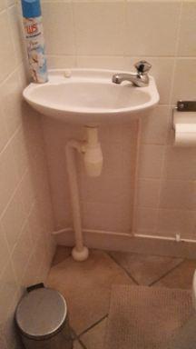 Verbouwing toilet Oirschot fonteintje oud