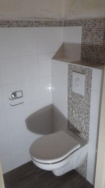 Verbouwing toilet Oirschot hangend toilet nieuw