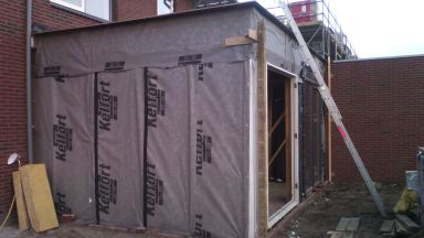 Aanbouw woonkamer Meppel