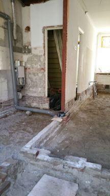 6. Wand tussen keuken en woonkamer verwijderd
