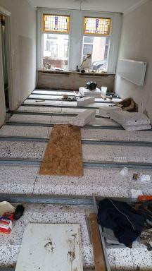 7. De nieuwe vloer krijgt vorm