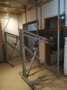 Renovatie woonkamer Mol - Voorbereiding plaatsen stutbalk