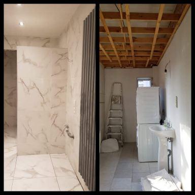 Berghok word badkamer met inloopdouche te Lommel