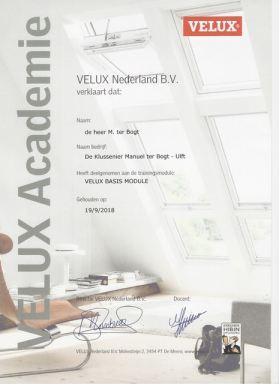 Door Velux getraind uw daglicht specialist