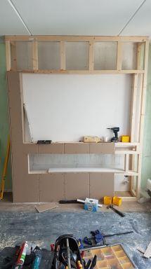 Maatwerk meubelwand te Dordrecht