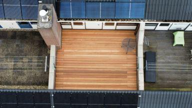 Hardhouten dakterras in Dordrecht
