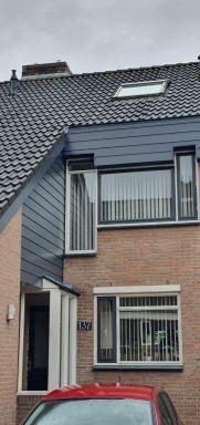 Gevelbekledig en dakranden vervangen voor kunstof Keralite in Dordrecht