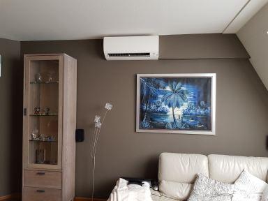 airco aanleg woonkamer appartement Axel