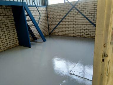 Vloer coaten bedrijfshal Spijkenisse