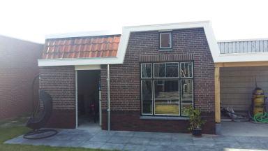 dak en windveren tuinschuur in Oldenzaal