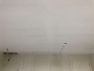 Renovatie keuken Scherpenheuvel plafond schilderen