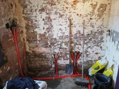 badkamerrenovatie te Rupelmonde leidingen