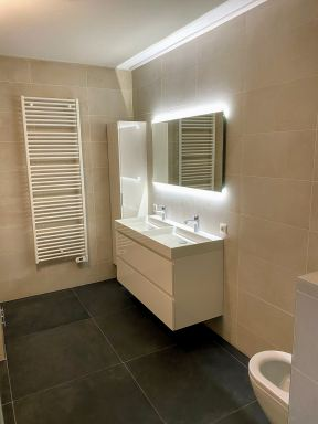 Badkamer gecreëerd in nieuwbouwwoning te Lelystad