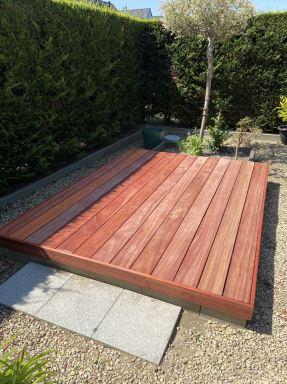 houten terras in padouck te hooglede